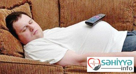 Televizor qarşısında yatsanız, bu xəstəliklər... – Xəbərdarlıq